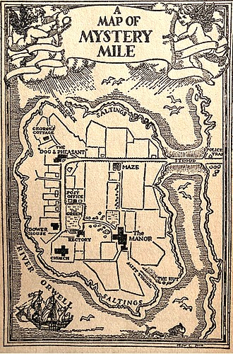 "A J Gregory, ""A Map of Mystery Mile"" in Margery Allingham, Mystery Mile"